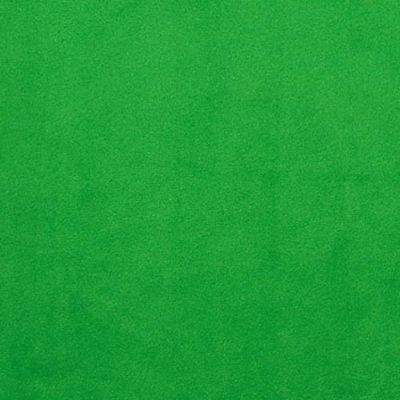 Remnant - Shannon - Smooth Plush Fabric - Kelly Green - 1m x 150cm - Bolt End