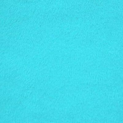Remnant -Shannon - Smooth Cuddle 3 Plush Fabric - Turquoise - 1m x 150cm - Bolt End