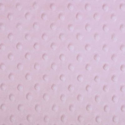 Remnant -Shannon Fabrics - Cuddle Dimple Plush Fabric - Baby Pink - 21 x 150cm - Bolt End