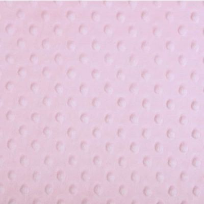 Remnant -Shannon Fabrics - Cuddle Dimple Plush Fabric - Blush - 36 x 150 - Bolt End