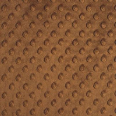 Remnant -Shannon Fabrics - Cuddle Dimple Plush Fabric - Caramel - 90 x 150cm - Bolt End