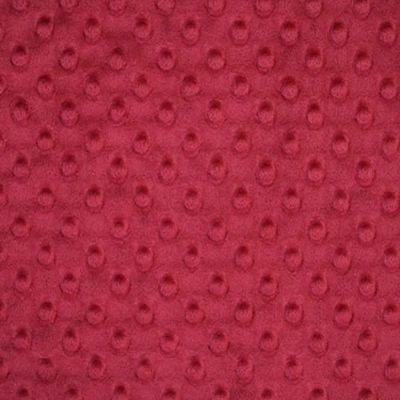 Remnant - Shannon Fabrics - Cuddle Dimple Plush Fabric - Crimson - 36 x 150cm - Bolt End