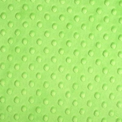 Remnant - Shannon Fabrics - Cuddle Dimple Plush Fabric - Dark Lime - 75cm Square