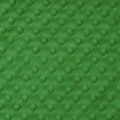 Remnant - Shannon Fabrics - Cuddle Dimple Plush Fabric - Kelly Green - 75cm Square - Bolt End