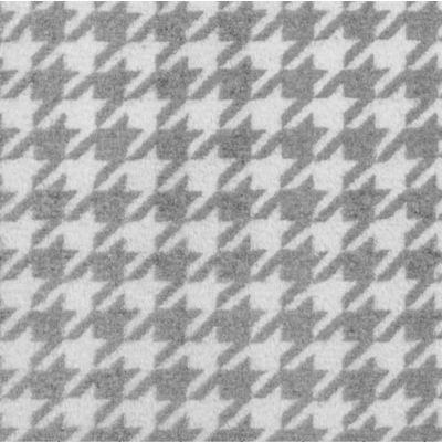 Remnant - Shannon Cuddle - Houndstooth Silver/Snow - 75cm Square