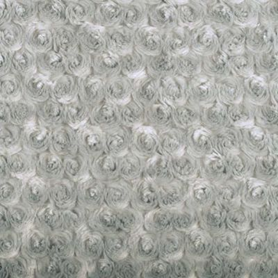Shannon Cuddle Rose Silver Plush Fabric