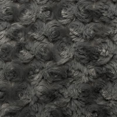 Shannon Luxe Cuddle Rose Plush Fabric - Charcoal