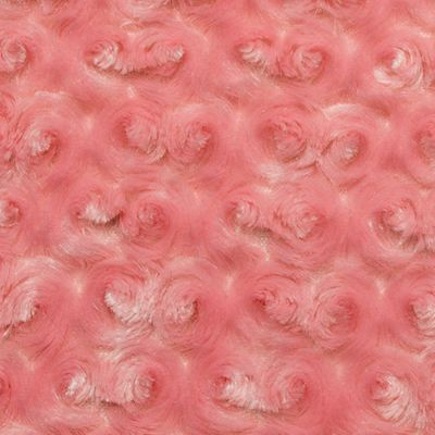 Shannon Luxe Cuddle Rose Plush Fabric - Coral