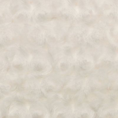 Shannon Luxe Cuddle Rose Plush Fabric - Ivory