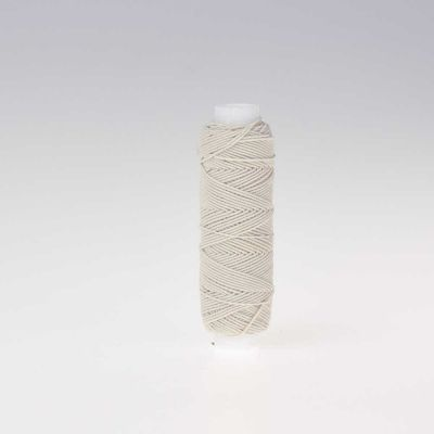 Cream Shirring Elastic 20m