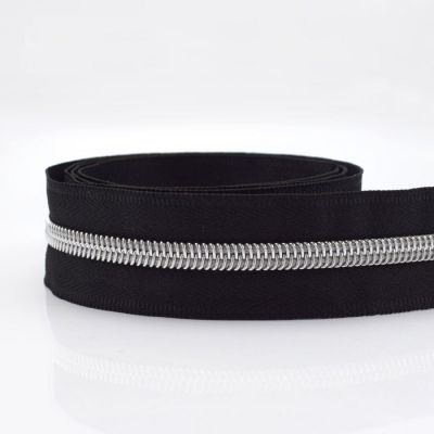 Metal Look Continuous Nylon Zip #5 Weight - 4 Styles