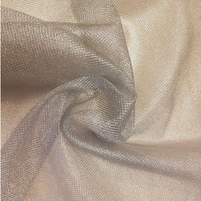 Lurex Soft Sheen Silver Net Fabric