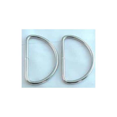 Silver D Ring 25mm 2 Pack