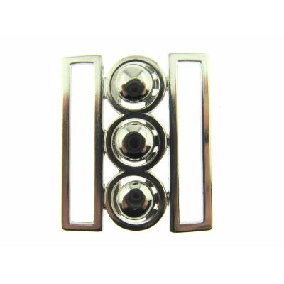 Remnant - 1 pair x Nurses Buckle/Clasp - Silver - 50mm - Old Stock