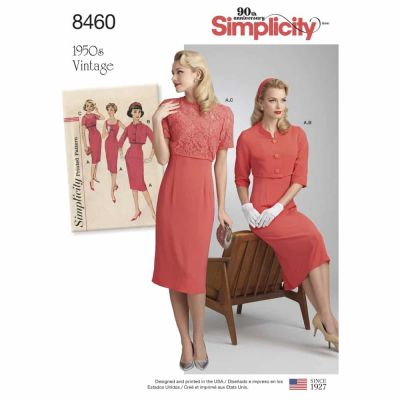 Simplicity Sewing Pattern 8460 Women_s Vintage Dress and Jackets