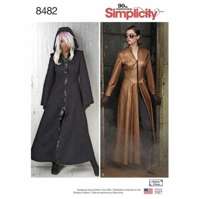 Simplicity Sewing Pattern 8482 Msses' Costume Coats