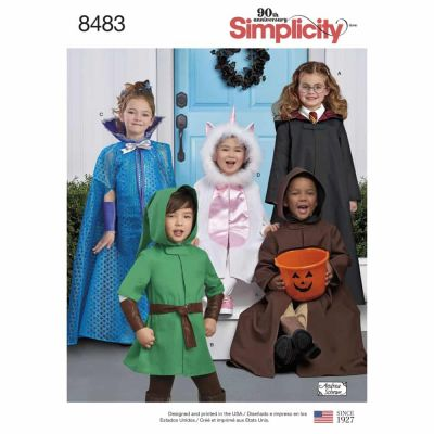 Simplicity Sewing Pattern 8483 Child's Cape Costumes