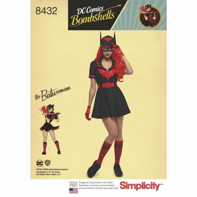 Simplicity Sewing Pattern 8432  Misses' DC Bombshell Batwoman Costume