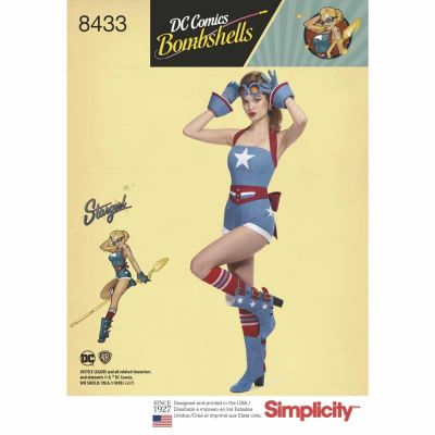 Simplicity Sewing Pattern 8433  Misses' DC Bombshell Stargirl Costume