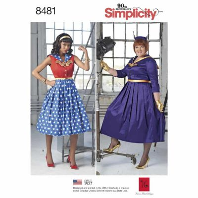 Simplicity Sewing Pattern 8481 Women_s and Womens Rockabilly Dresses