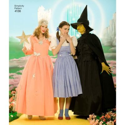 Simplicity Sewing Pattern 4136 - Womens Wizard Of Oz Costumes