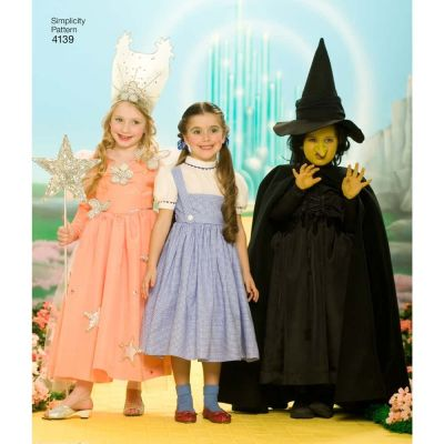 Simplicity Sewing Pattern 4139 - Childs Wizard Of Oz Costumes