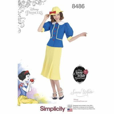 Simplicity Sewing Pattern 8486  Women_s 1930's Snow White Dress and Hat