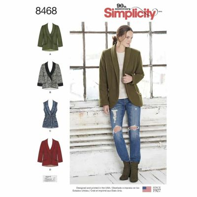 Simplicity Sewing Pattern 8468 Women_s Unlined Jacket and Vest