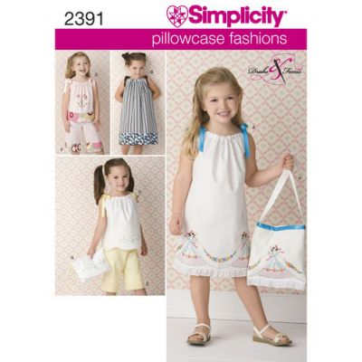 Simplicity Sewing Pattern 2391 Childs vintage pillow case fashion