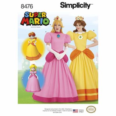 Simplicity Sewing Pattern 8476 Women_s Super Mario Princesses Costumes