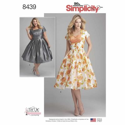 Simplicity Sewing Pattern 8439  Misses'/Women's Dress with Bodice Variations