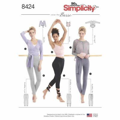 Simplicity Sewing Pattern 8424  Misses' Knit Leggings in Two Lengths and Three Top Options