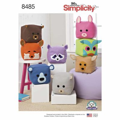Simplicity Sewing Pattern 8485 Stuffed Cube Animals