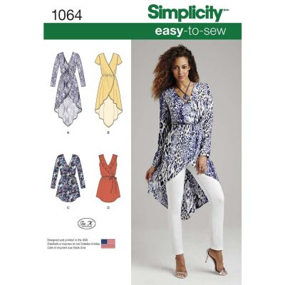Simplicity Sewing Pattern 1064 - Womens Tunics