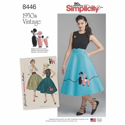 Simplicity Sewing Pattern 8446 Misses' Vintage Skirt and Cummerbund