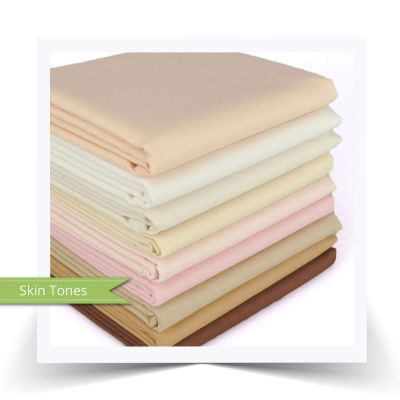 "FQ Bundle Cottons: Kona Solids ""Skin Tones"""