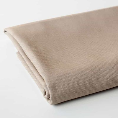 Camel solid colour cotton canvas fabric