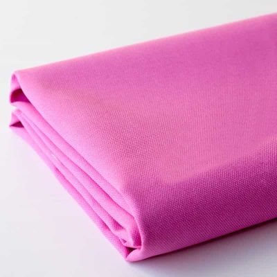 Pink solid colour cotton canvas fabric