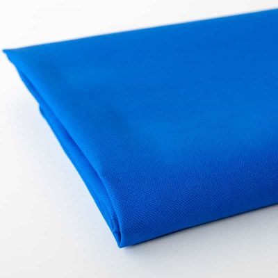 Solid blue cotton canvas fabric