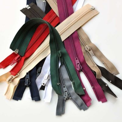 Spiral Open Ended Zips Range Of Colours & Sizes