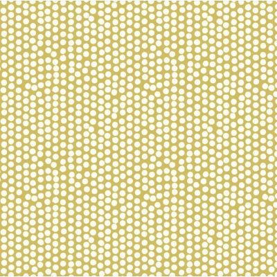 Laminated Cotton - Spotty - Ochre