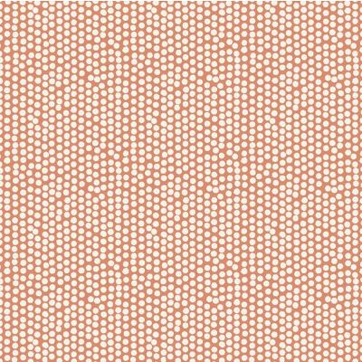 Laminated Cotton - Spotty - Orange