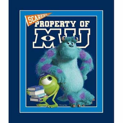 Remnant - Springs Creative - Monsters University Quilt Panel - 89 x 110cm - Miscut