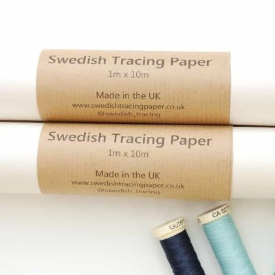 Remnant -Swedish Tracing Paper For Dressmaking 1m wide - 10m Roll - Bent/no label