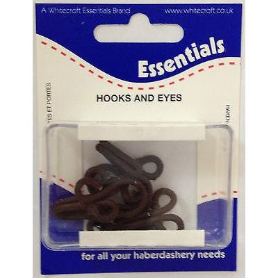 Remnant - Essentials 24 Sets Of Rustless Hook & Eye Fasteners - Size 3 - Black Brass - End of Line