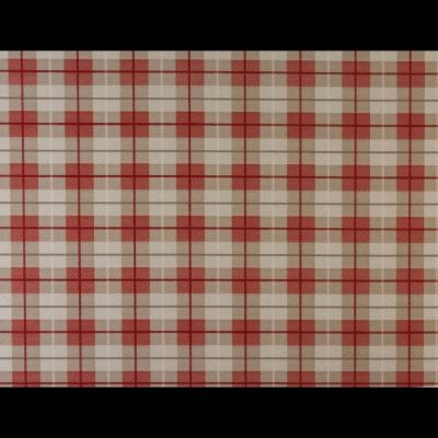 Laminated Cotton - Tartan - Red