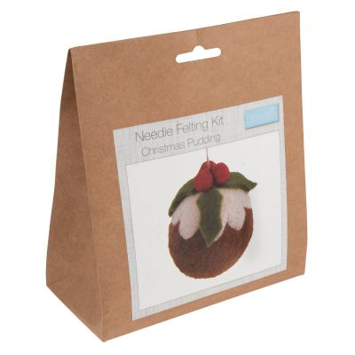 Trimits Needle Felting Kit: Christmas Pudding