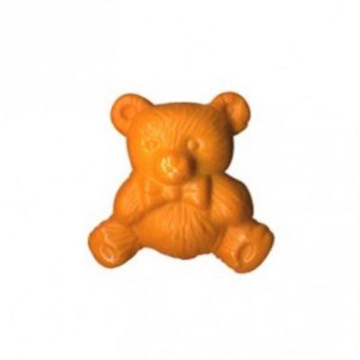 Nylon Teddy Bear Shank Button 15mm / 24L - Orange