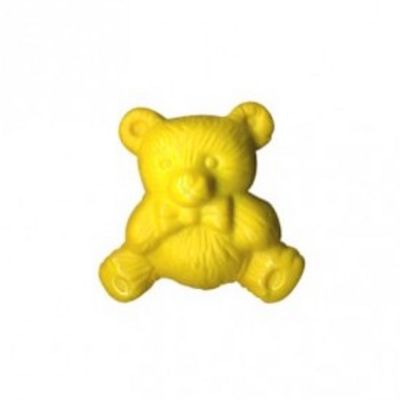 Nylon Teddy Bear Shank Button 15mm / 24L - Yellow