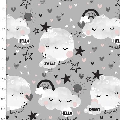 3 Wishes Fabric - Cosy Flannel - Dont Forget To Dream